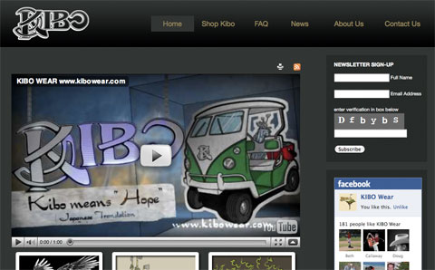 Image of KIBO Wear website project by Dennison+Wolfe