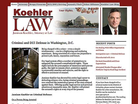 Image of Jamison Koehler website project by Dennison+Wolfe