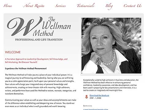 Image of The Wellman Method website project by Dennison+Wolfe