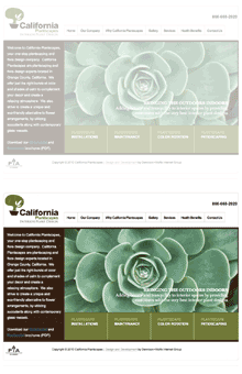 Thumbnail image of California Plantscapes website project