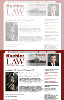 Thumbnail image of Jamison Koehler, Attorney at Law website project